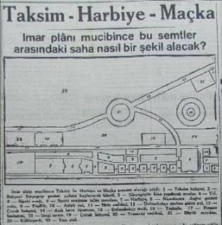planta do projeto para a transformação do local segundo empresas francesas de urbanização. Existiriam parque de exposições, edifícios públicos , cinemas e centros de compras. Aqui em um panfleto de 1939.