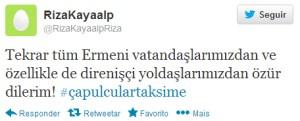 """""""Cidadãos armênios, e especialmente os nossos companheiros na resistência mais uma vez me desculpe!"""""""