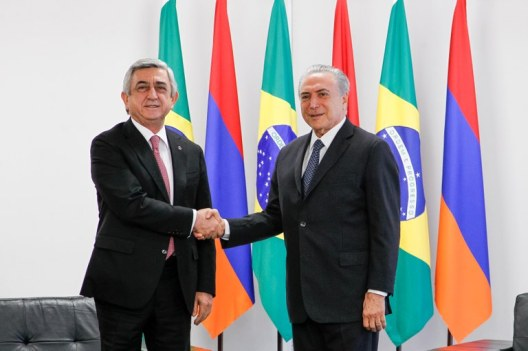 Sargsyan e Temer - Foto - Beto Barata (PR)