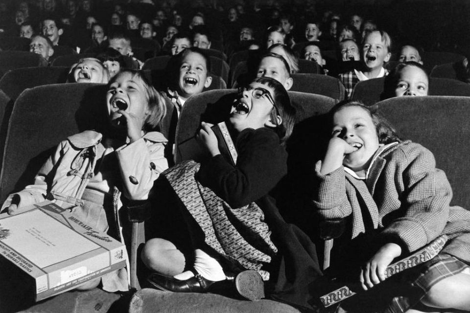 Children in a movie theater, 1958. Wayne Miller photography