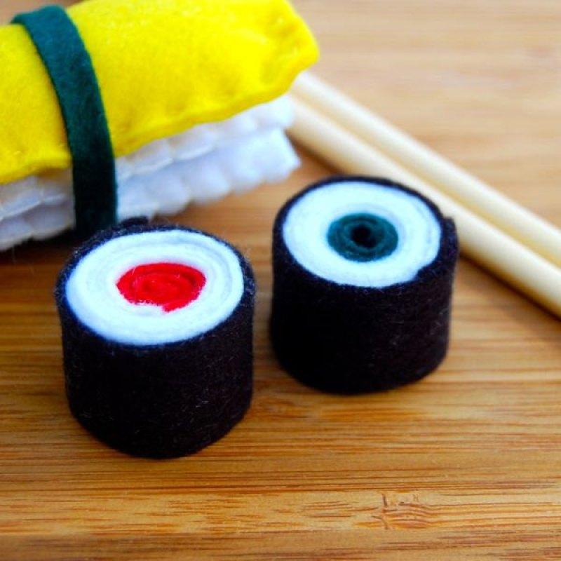 Comida de fieltro. Sushi, de ei kumpel