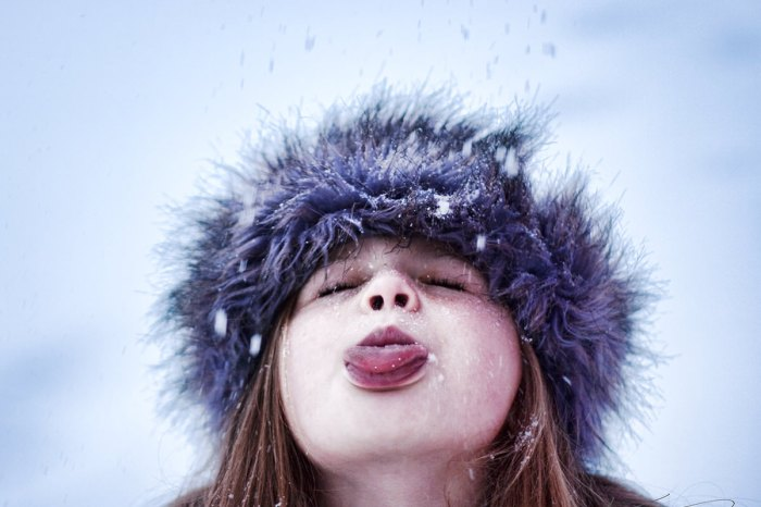 Snowflakes Stick to my Tongue, by Krista Long via Flickr