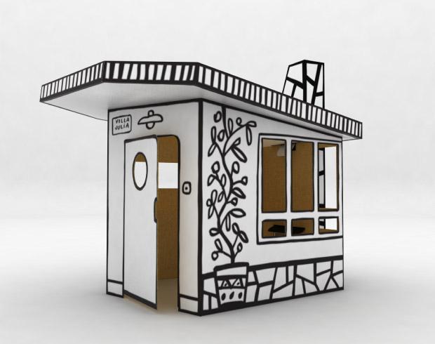 Casa de juguete hecha de cartón diseñada por Mariscal