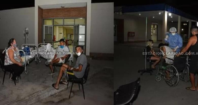 Photo of Media Agua: Pacientes del Hospital Ventura Lloveras evacuados en el exterior del nosocomio