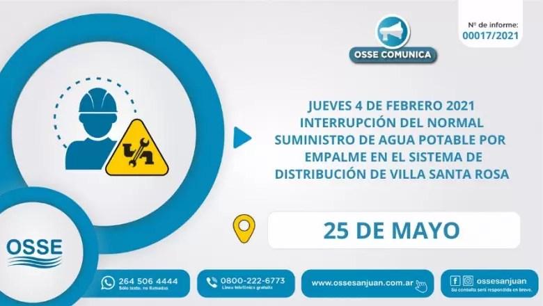 Photo of Comienzan las etapas de empalme del sistema de distribución de agua potable Villa Santa Rosa