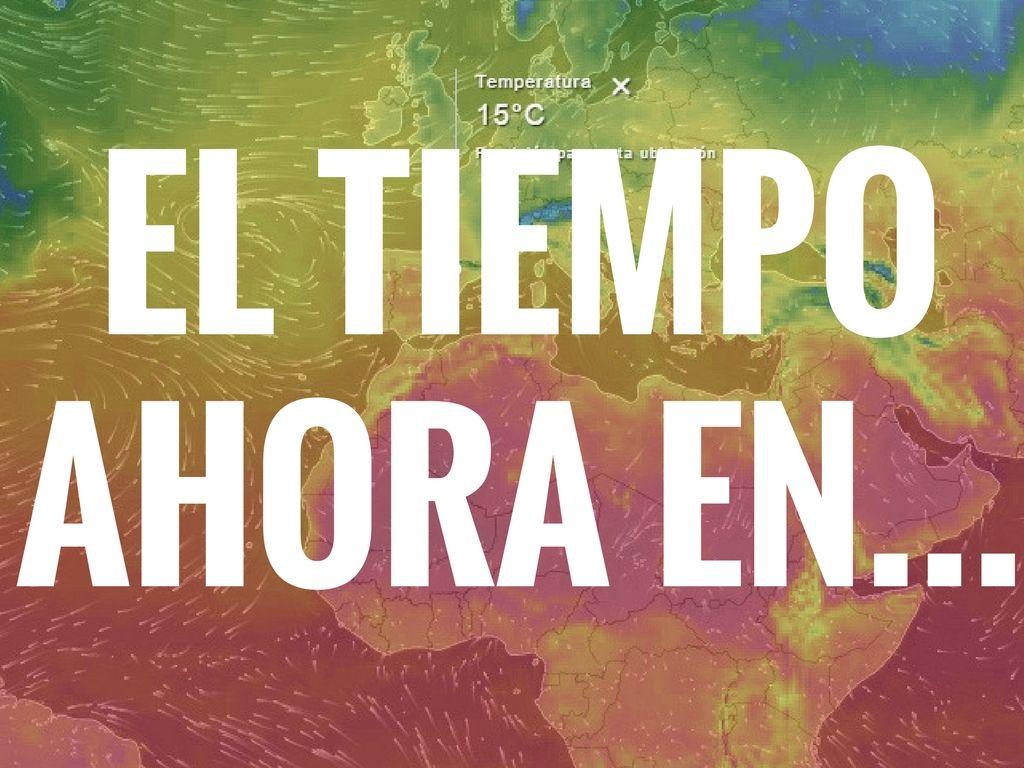 información meteorologica del momento.