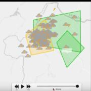 Evolución de la reflectividad y rayos en España 20 de junio del 2017 con SmartWeather