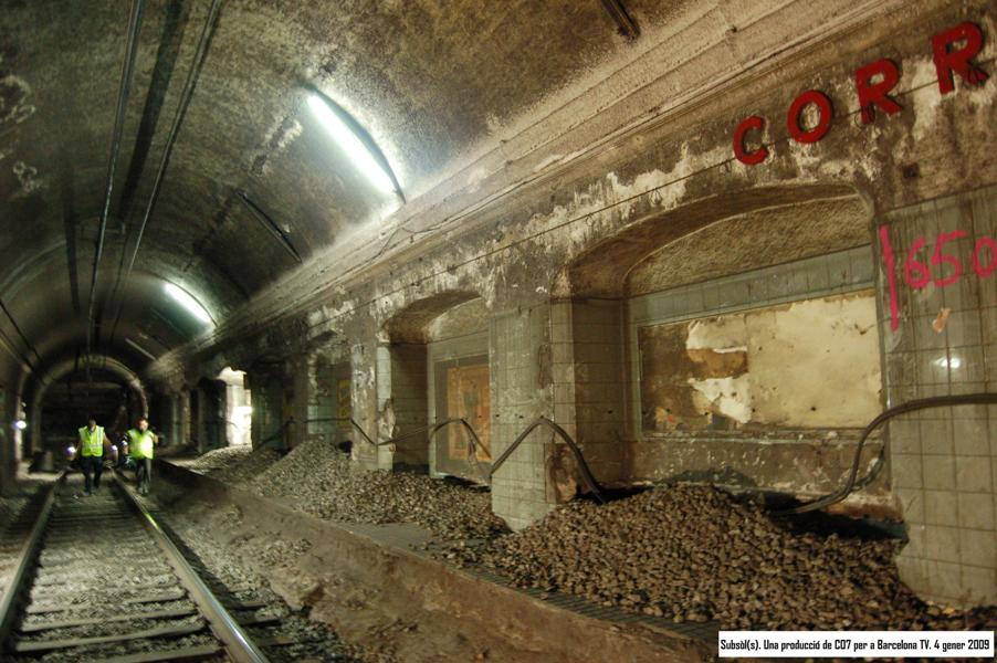 Estació fantasma Correus Metro Barcelona