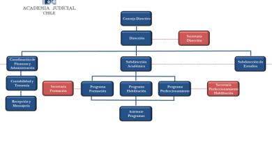 organigrama academia judicial