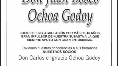 Foto de Falleció Don Juan Bosco Ochoa Godoy