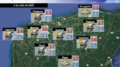Foto de Pronóstico del tiempo en Yucatán para el jueves 02 de julio