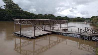 """Foto de El nivel del río Palizada rebasa su """"escala preventiva"""""""