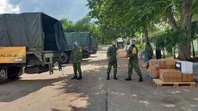 Foto de Arriban más insumos médicos al X Batallón para atención de Covid-19
