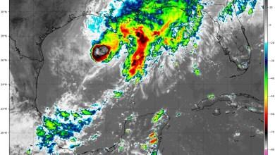 Foto de Siguen las lluvias por sistema frontal en el golfo de México