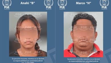 """Foto de Captura FGE a Marco """"H"""" y Anahí """"B"""" por feminicidio en agravio de una víctima menor de edad de identidad reservada"""