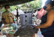 Foto de Pronto auxilio a familia a quien se le incendio su casa en Dzidzantún