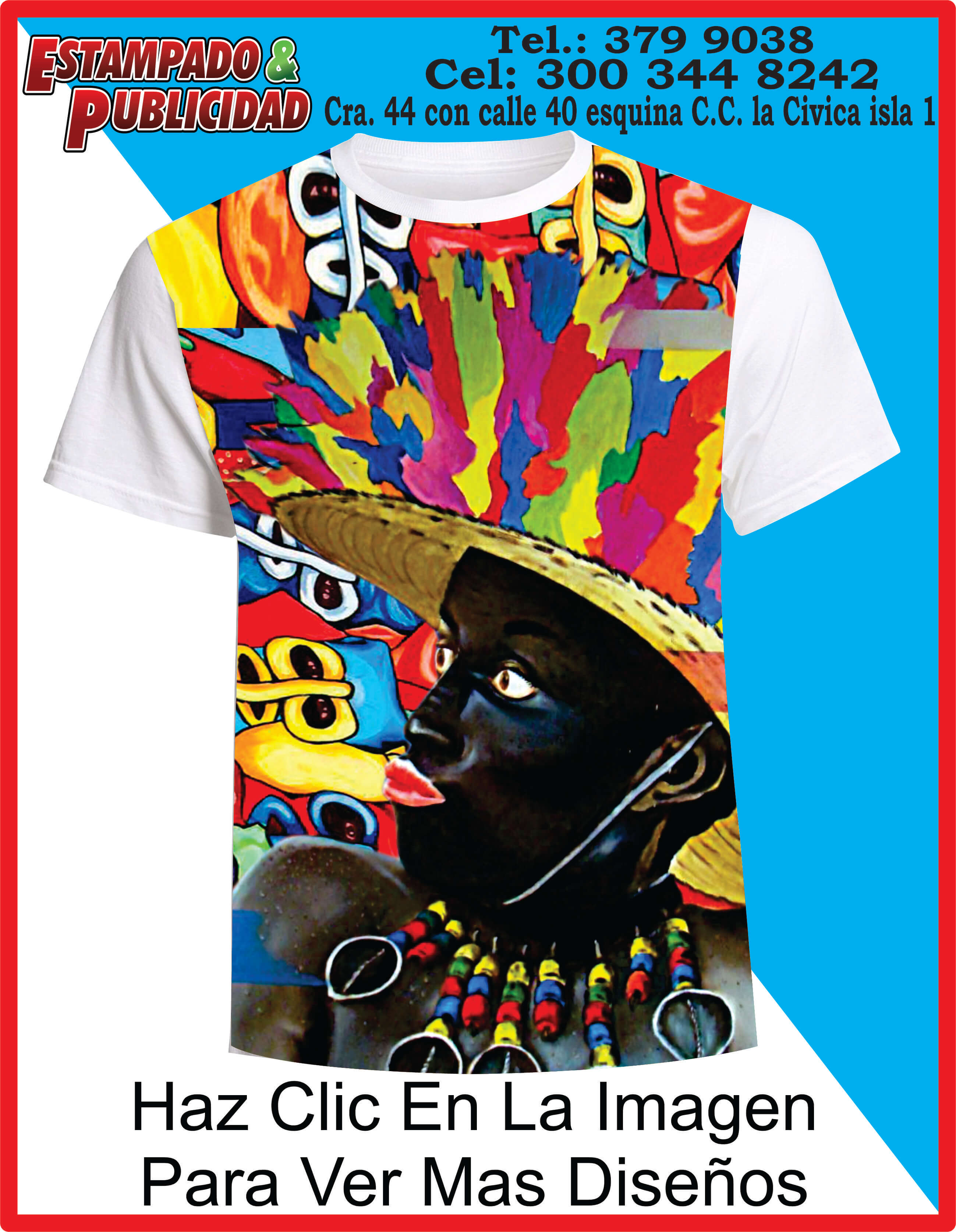 5fbb02ec328 Camisetas de-Carnaval 2019 negrito - Estampado y Publicidad