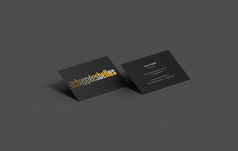 Business Card Black Mockup