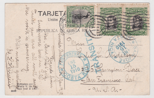 postcard with mixed franking from the 1901-1907 issues