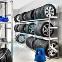 Estanterías galvanizadas para neumáticos
