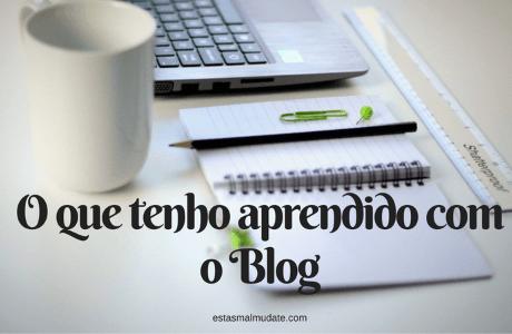O que tenho aprendido com o Blog
