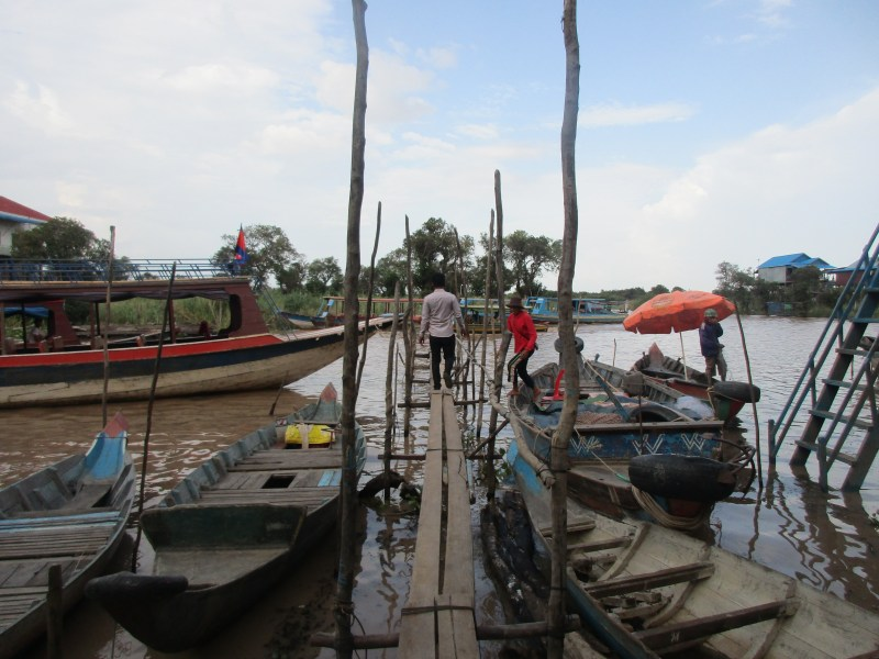 Floating village in Tonle Sap