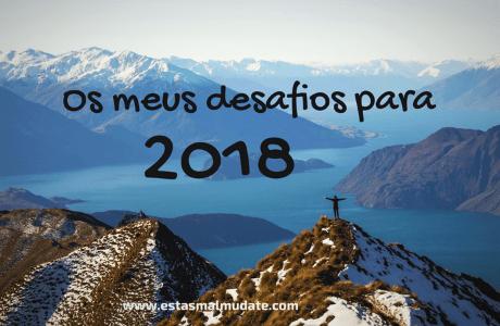 Os Meus Desafios Para 2018