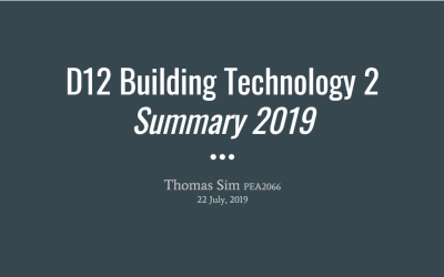 Summary Series – D12 Building Technology II
