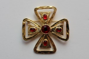 art deco antique cross brooch