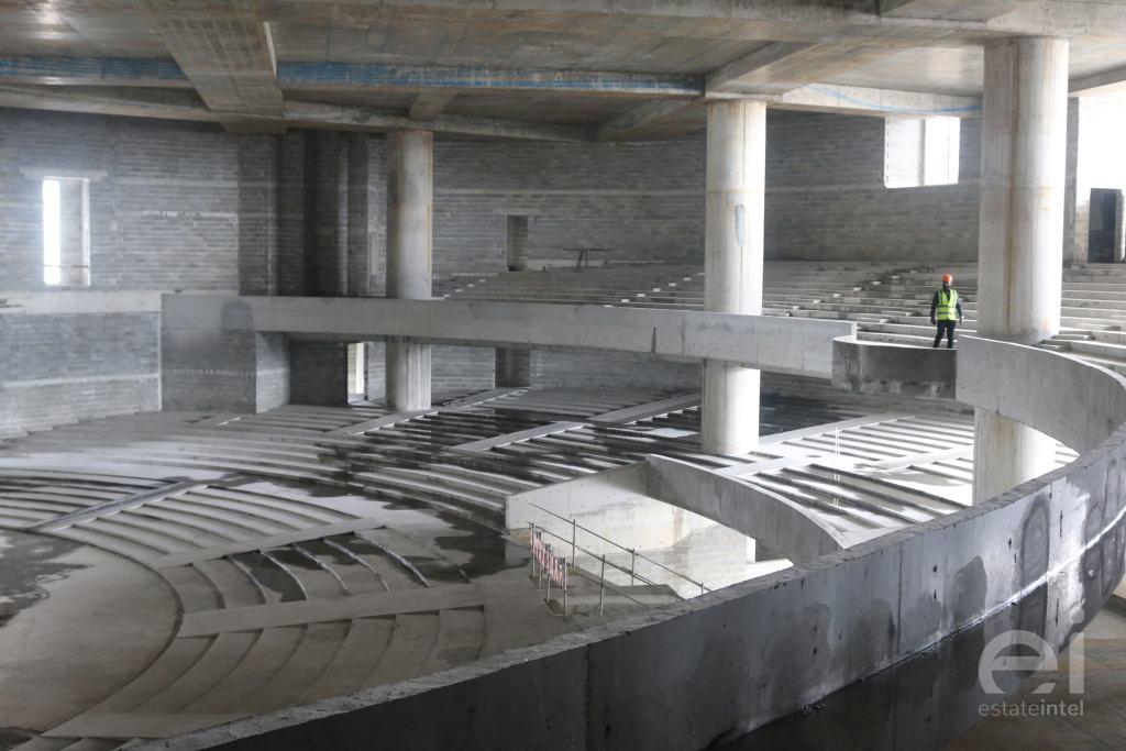 Trinity Church auditorium under construction