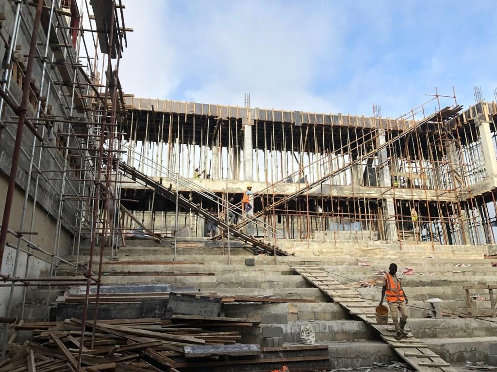 Construction site of Filmhouse Cinemas, Circle Mall, Osapa London, Lekki - Lagos
