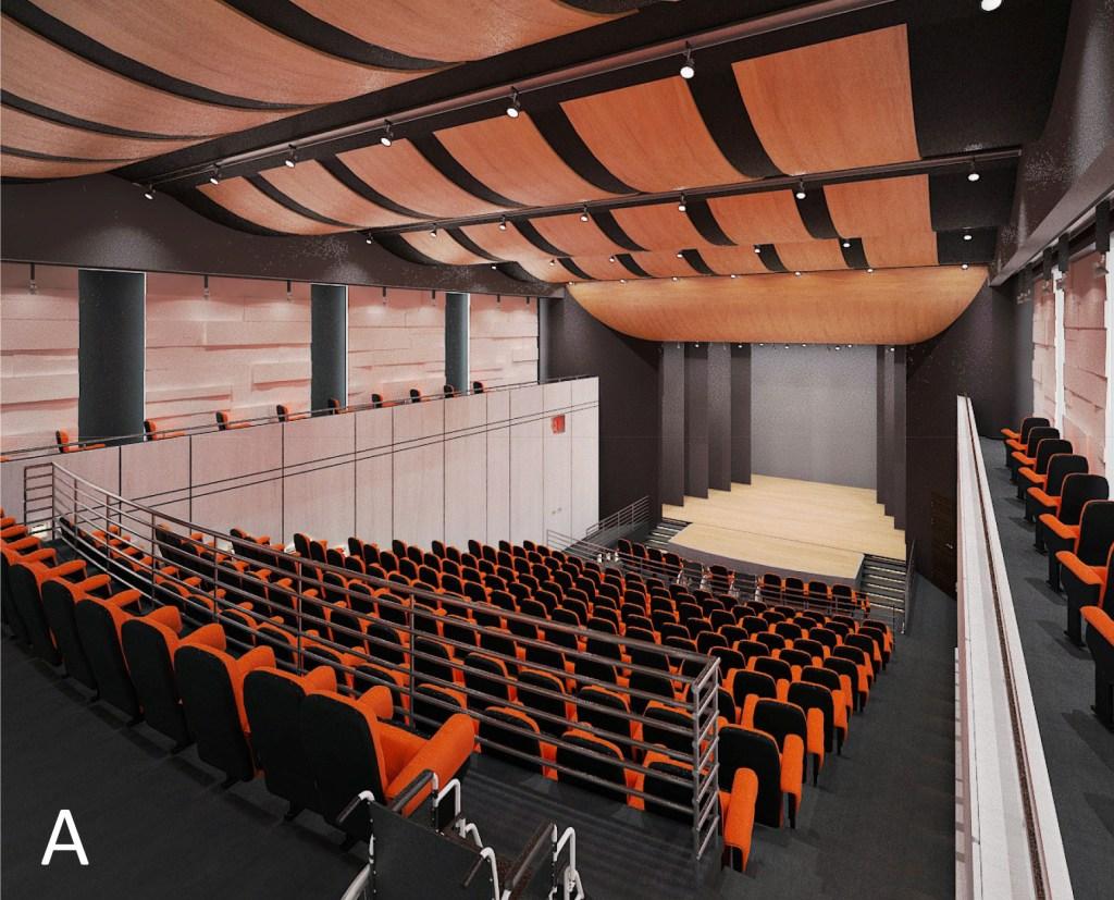 CGI image of Claudia Mutliplex Auditorium