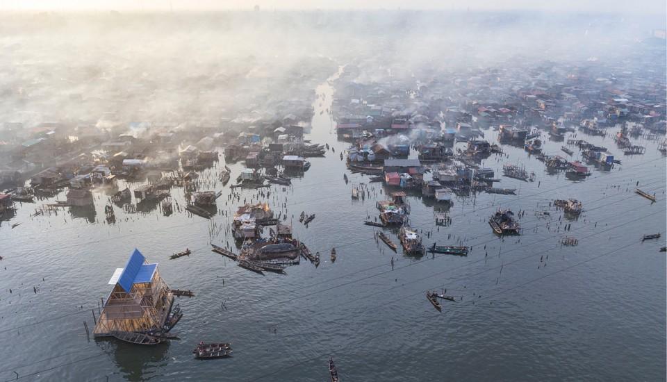 Makoko and Makoko Floating School. Photo By Iwan Baan, NYT