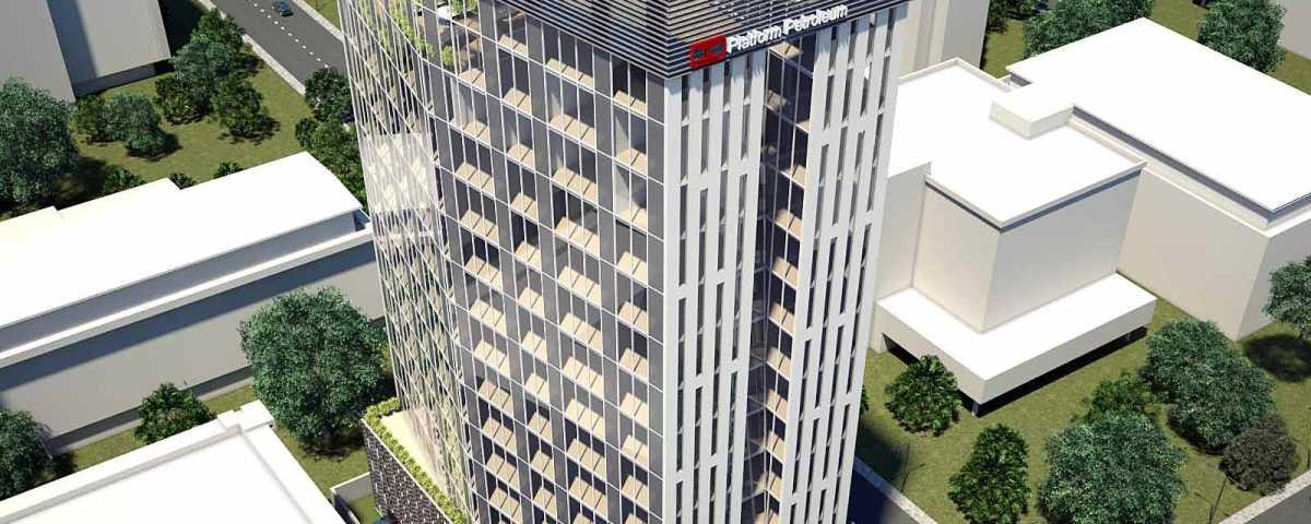 Development: Greystone Tower, Idowu Taylor Street, Victoria Island - Lagos. Developed by Platform Petroleum. Image Source: NAIRDA