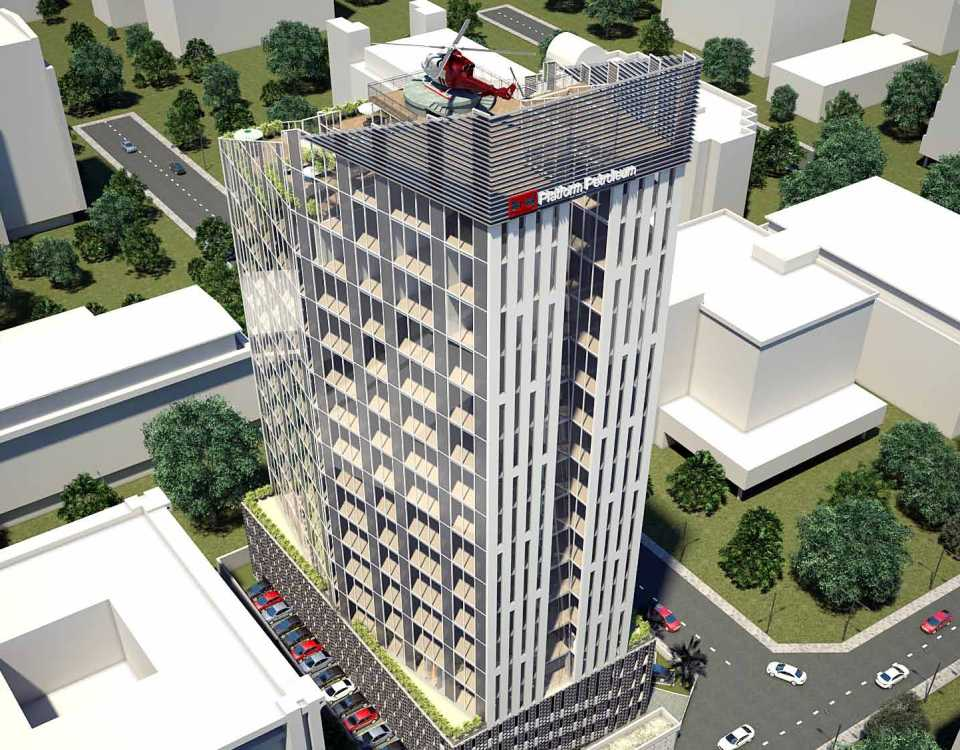 Development: Greystone Tower, Idowu Taylor Street, Victoria Island - Lagos. Developed by Platform Petroleum. Image Source: NAIRDA