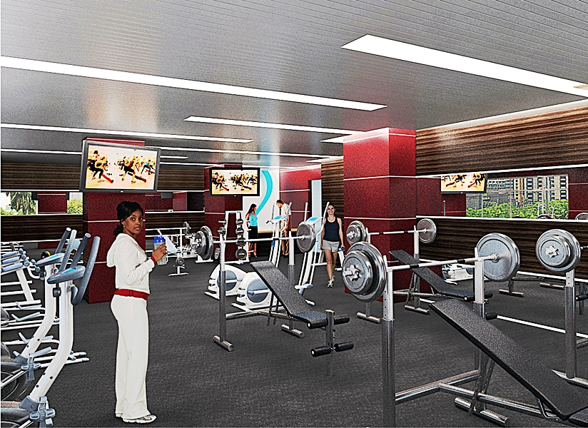 Gym- Eden Heights, Elsie Femi Pearse Street, Victoria Island - Lagos. Image Source. Eden Heights.
