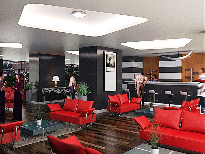 Lounge - Eden Heights, Elsie Femi Pearse Street, Victoria Island - Lagos. Image Source. Eden Heights.