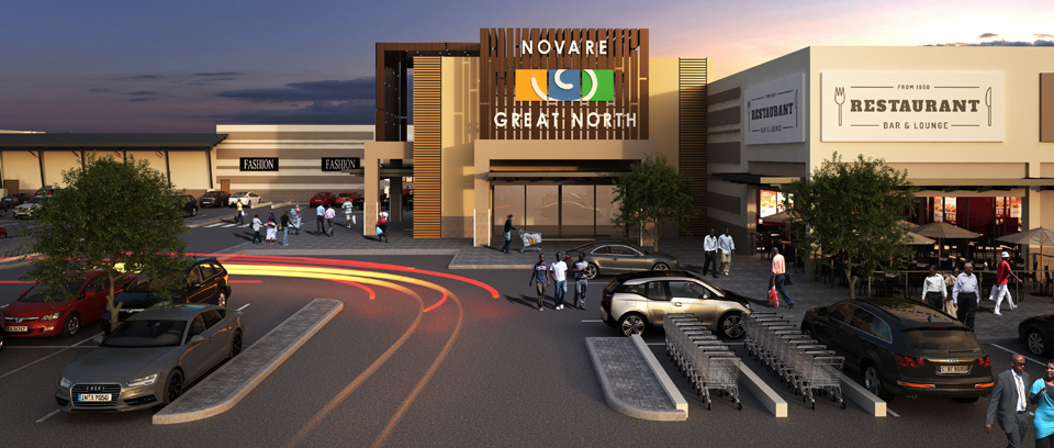 Great North Mall, Lusaka - Zambia. Novare