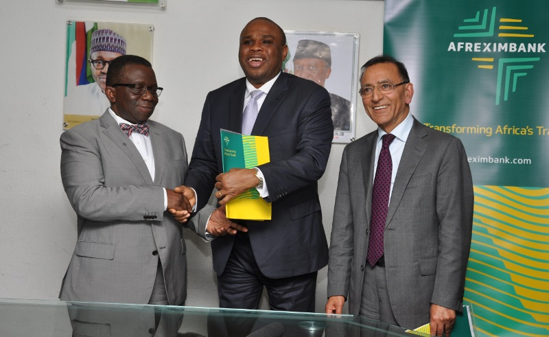 (L-R) Prof. Isaac Adewole, Minister of Health of Nigeria; Afreximbank President Dr. Benedict Oramah; and Prof. Ghulam Mufti, Non-Executive Director of the Board of Kings College Hospital, UK, following the signing of the MOU in Abuja