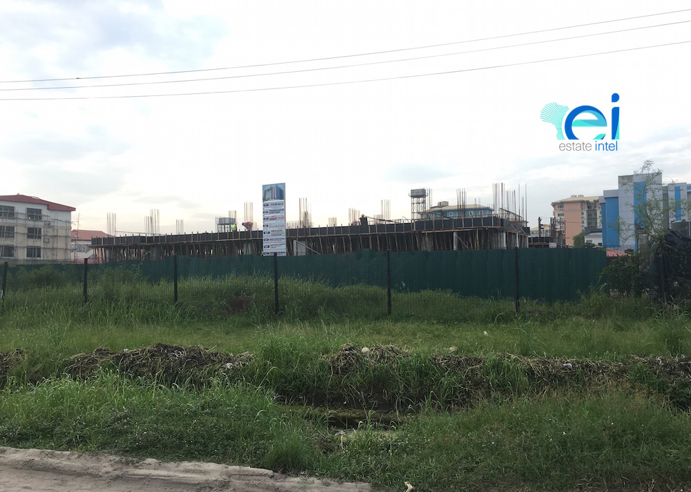 June 2017. Development: 6 Floor Office Development, Ikate, Lekki Epe Expressway - Lagos