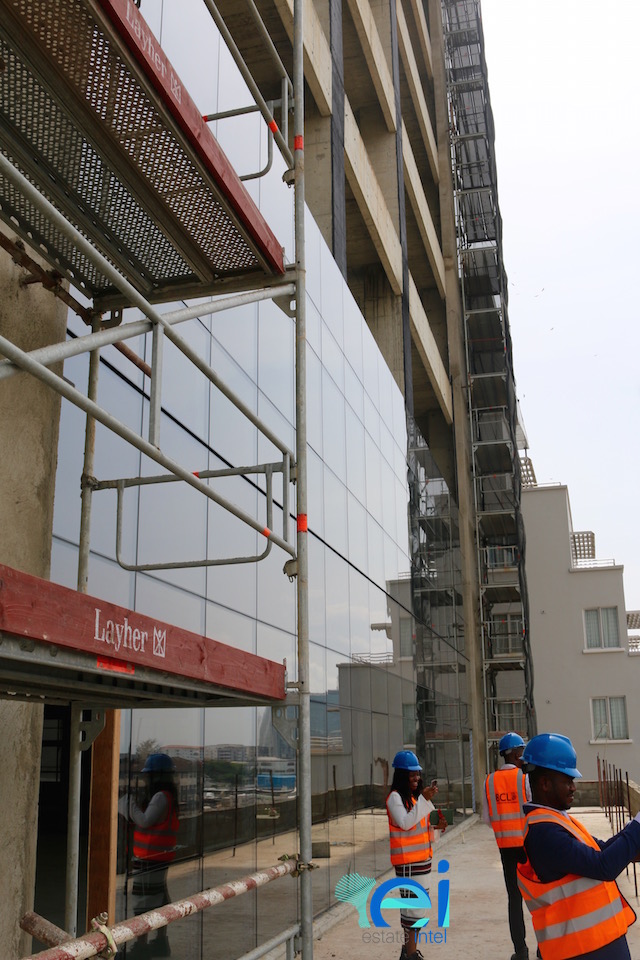 November 2017. The Terrace. Cornerstone HQ Development on Chief Yesuf Abiodon Road, Oniru - Lagos