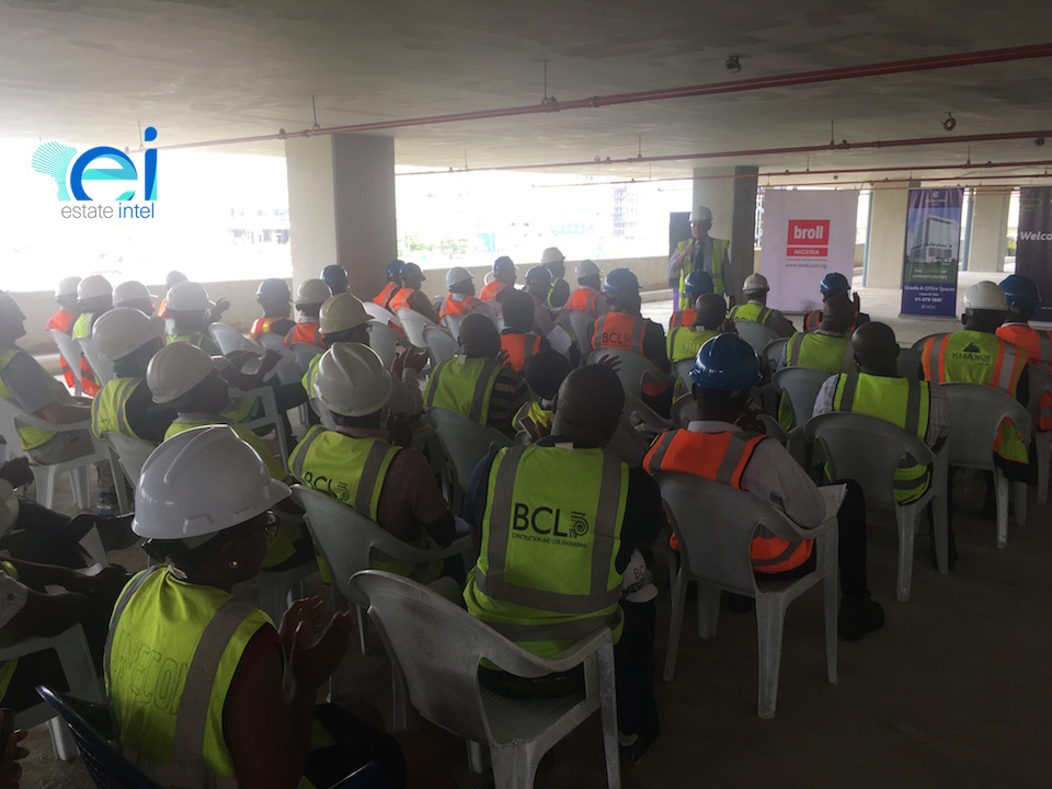 Topping out Ceremony at Cornerstone HQ Development on Chief Yesuf Abiodon Road, Oniru - Lagos