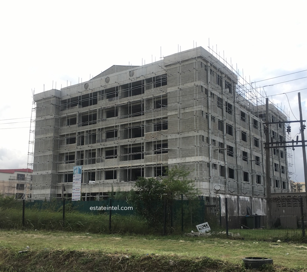 August 2018. Development: 6 Floor Office Development, Ikate, Lekki Epe Expressway - Lagos