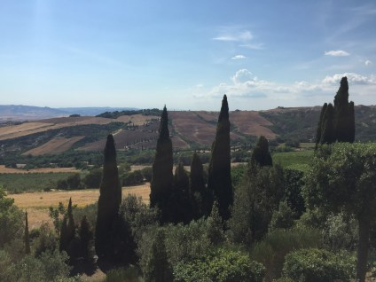 A view from La Foce giardini