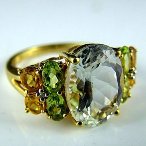 10k White Topaz Ring