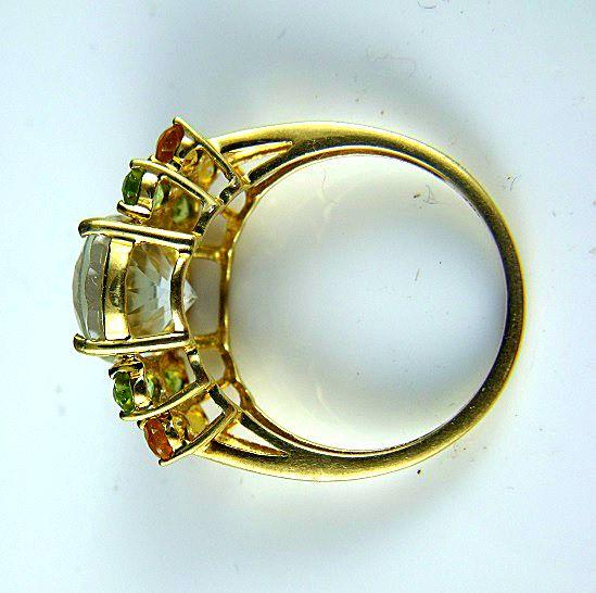 10k White Topaz Ring