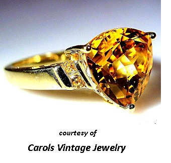 November's Birthstones Citrine Ring