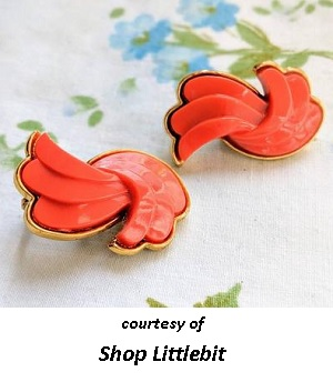 1950's Costume Jewelry Coral