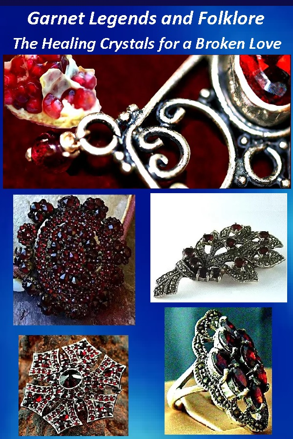 Garnet Legends and Folklore the Healing Crystals for a Broken Love - Estates in Time: Many of the Garnet Legends throughout history tells the relationship of the gem and the fruit pomegranate. Come read of the gem's many legends and fables.