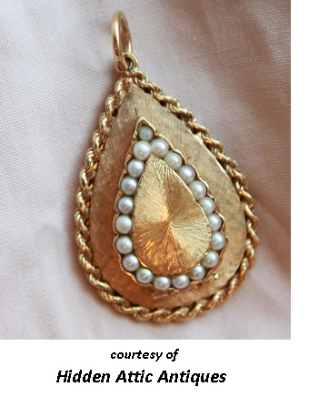 First Wedding Anniversary Gold and Pearl Locket